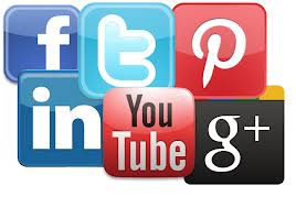 Facebook, Twitter, Instagram, YouTube, LinkedIn, GoogleMyBusiness